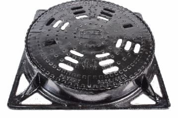 TYPE 2B MANHOLE COVER & FRAME WITH VENT SLOTS & ROTATING LOCK SYSTEM SANSPAR IMAGE