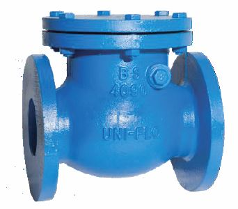 UNI FLO BS5153 BS4090 CAST IRON CHECK VALVE FIG 401A SANSPAR IMAGE