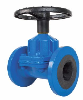 UNI-FLO STRAIGHT THROUGH RUBBER LINED DIAPHRAGM VALVE FIG DV SANSPAR IMAGE